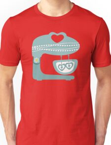 Girly baking stand mixer hearts pearls Unisex T-Shirt