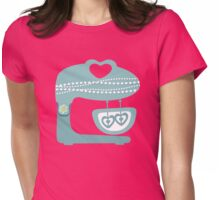 Girly baking stand mixer hearts pearls Womens Fitted T-Shirt
