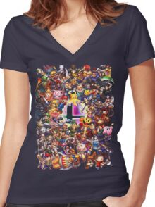 Smash Brothers Women's Fitted V-Neck T-Shirt