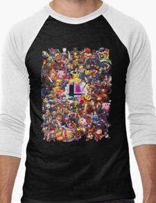 Smash Brothers Men's Baseball ¾ T-Shirt