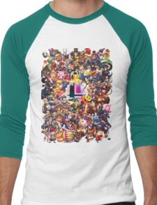 Smash Brothers Men's Baseball ¾ T-Shirt