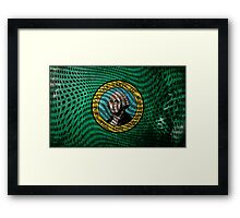 Warped Washington Framed Print