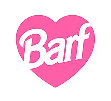 Barf Heart  Photographic Print