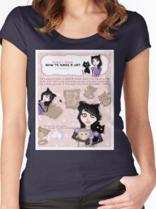 HERE'S HOW: HOW TO MAKE A CAT Women's Fitted Scoop T-Shirt