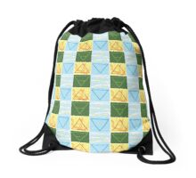 Earth Wind Fire Water Color Alchemy Symbols Drawstring Bag