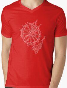 Bonewheel Mens V-Neck T-Shirt
