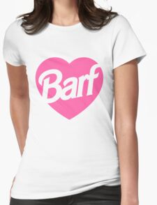 Barf Heart  Womens Fitted T-Shirt
