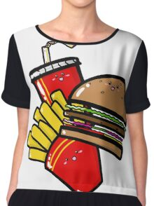 Burger'n'Fries Chiffon Top