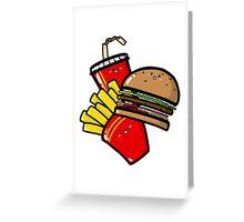 Burger'n'Fries Greeting Card