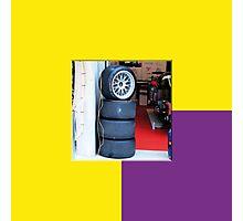24 LeMans2 - Pit Tyres Photographic Print