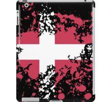 Denmark Flag Ink Splatter iPad Case/Skin