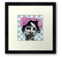 Princesse Paris Rose - Green polka dot  Framed Print