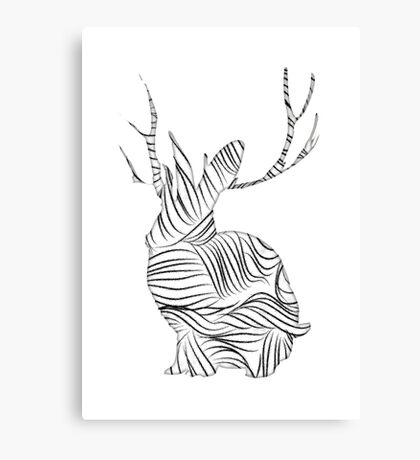 The Stripy Rabbit Canvas Print
