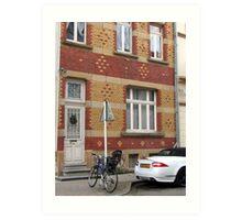 Decorative brick facade - Luxembourg Art Print