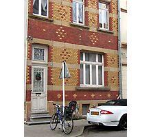 Decorative brick facade - Luxembourg Photographic Print