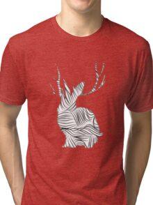 The Stripy Rabbit Tri-blend T-Shirt