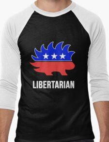 Libertarian Porcupine Party Men's Baseball ¾ T-Shirt