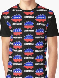 Libertarian Porcupine Party Graphic T-Shirt