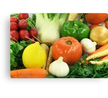 Vegetables, Fruits, Ingradients and Spices  Canvas Print