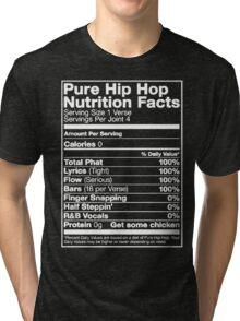 Pure Hip Hop Nutrition Facts Tri-blend T-Shirt