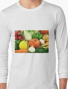 Vegetables, Fruits, Ingradients and Spices  Long Sleeve T-Shirt