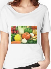 Vegetables, Fruits, Ingradients and Spices  Women's Relaxed Fit T-Shirt