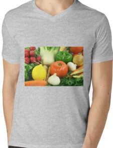 Vegetables, Fruits, Ingradients and Spices  Mens V-Neck T-Shirt