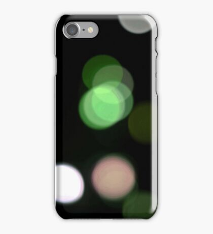 Green White Pink Light Bokeh Effect iPhone Case/Skin