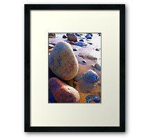 Langland Pebbles Framed Print