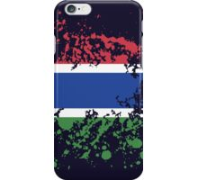 Gambia Flag Ink Splatter iPhone Case/Skin