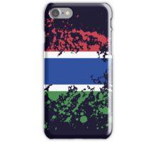 Gambia Flag Ink Splatter iPhone Case/Skin