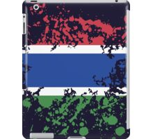 Gambia Flag Ink Splatter iPad Case/Skin
