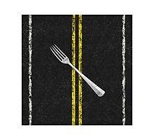 Fork In Road Photographic Print