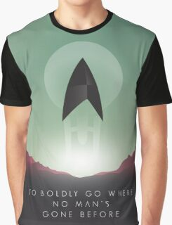 TO BOLDLY GO WHERE NO MAN'S GONE BEFORE Graphic T-Shirt