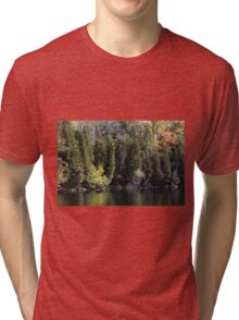 Light, Forest, Autumn and Lake. Tri-blend T-Shirt