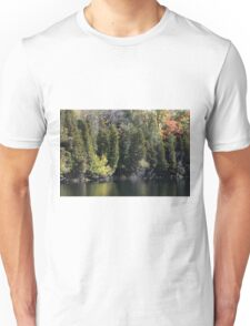 Light, Forest, Autumn and Lake. Unisex T-Shirt