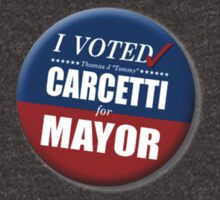 """I Voted Carcetti for Mayor (pin) - """"The Wire"""" by WitchDesign"""
