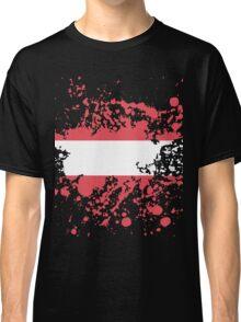 Austria Flag Ink Splatter Classic T-Shirt