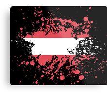 Austria Flag Ink Splatter Metal Print