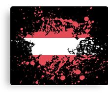 Austria Flag Ink Splatter Canvas Print