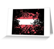 Austria Flag Ink Splatter Greeting Card