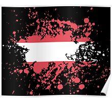 Austria Flag Ink Splatter Poster