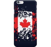 Canada Flag Ink Splatter iPhone Case/Skin
