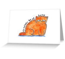 I'd rather be at home Greeting Card
