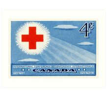 Canada postage stamp, 1952, Red Cross International Conference Art Print