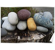 A cluster of stones Poster