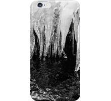 Black and White Icicles iPhone Case/Skin