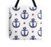 Blue Anchors Seamless Pattern Tote Bag