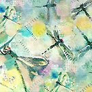 Dragonflies - Greenish by Betsy  Seeton