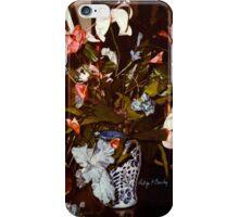 """""""Blue Bearded Irises Delft-ish Vase"""" iPhone Case/Skin"""